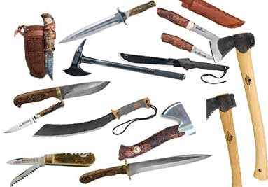 Nože a sekery